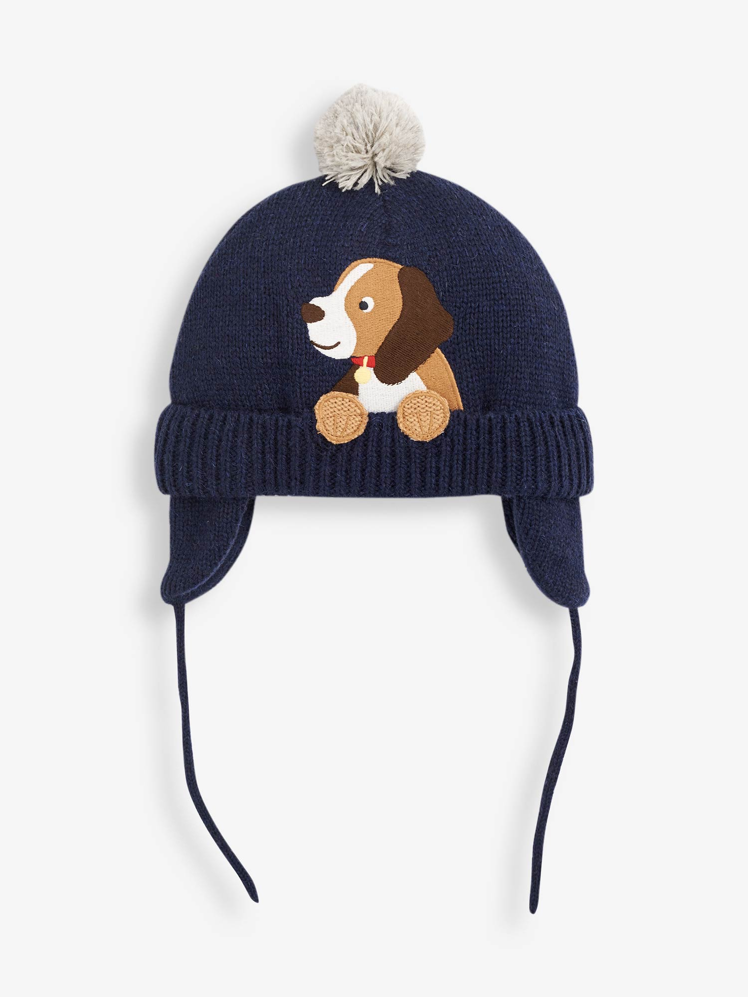 Navy Dog Applique Hat