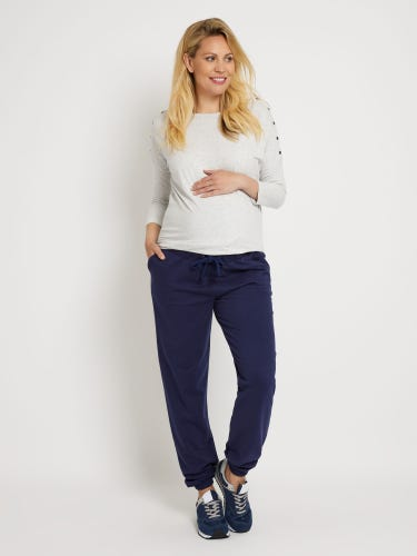 Navy Relaxed Fit Maternity Joggers
