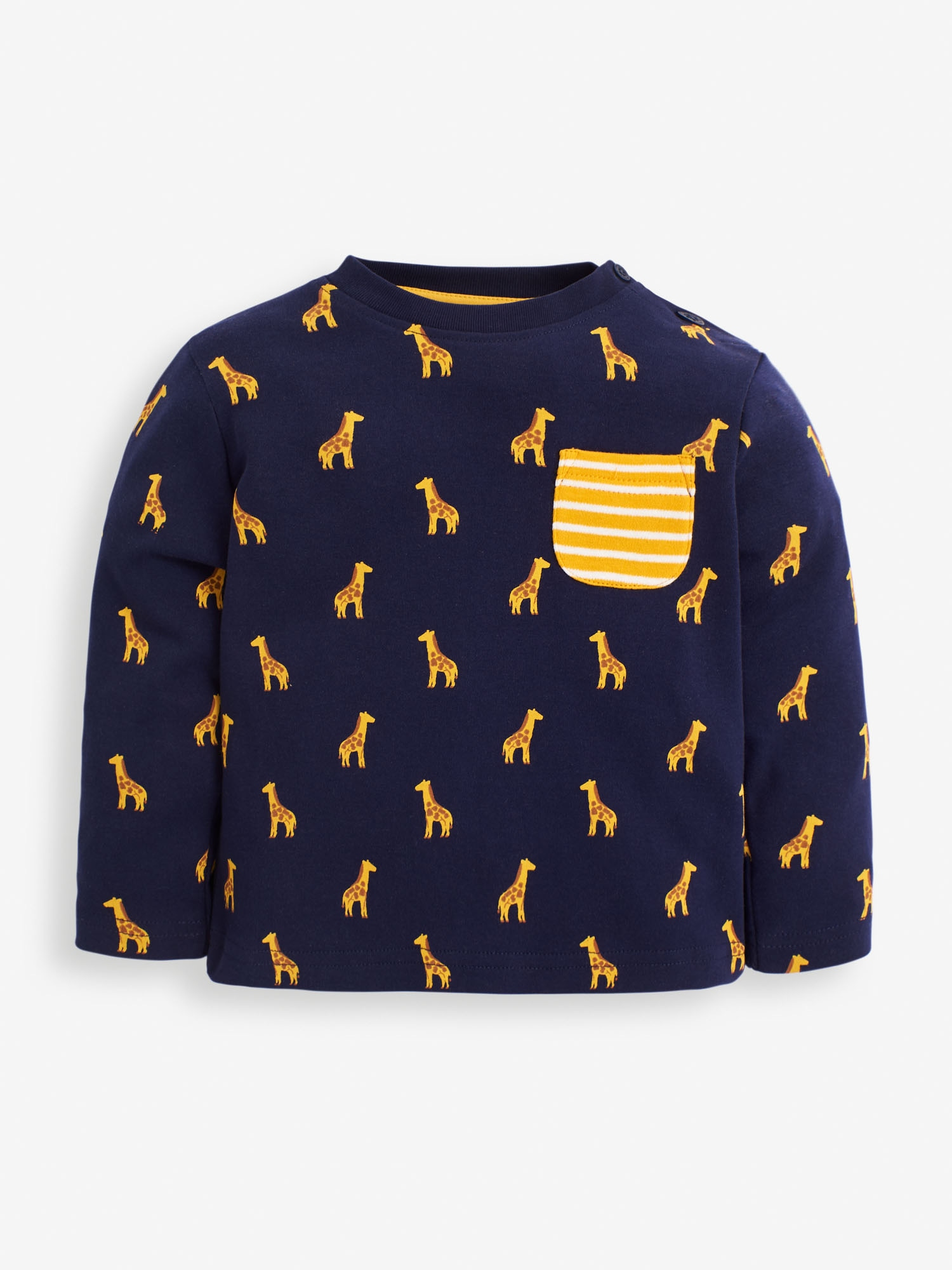 Kids' Navy Giraffe Print Top