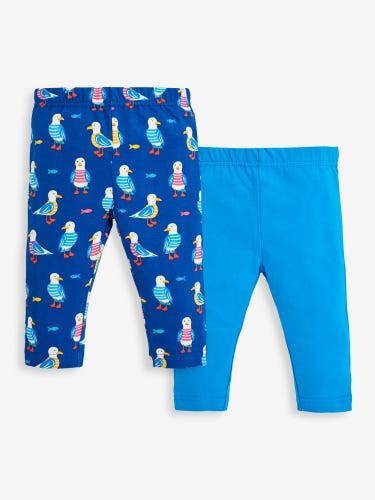 2-Pack Girls' Seagull & Cobalt Leggings