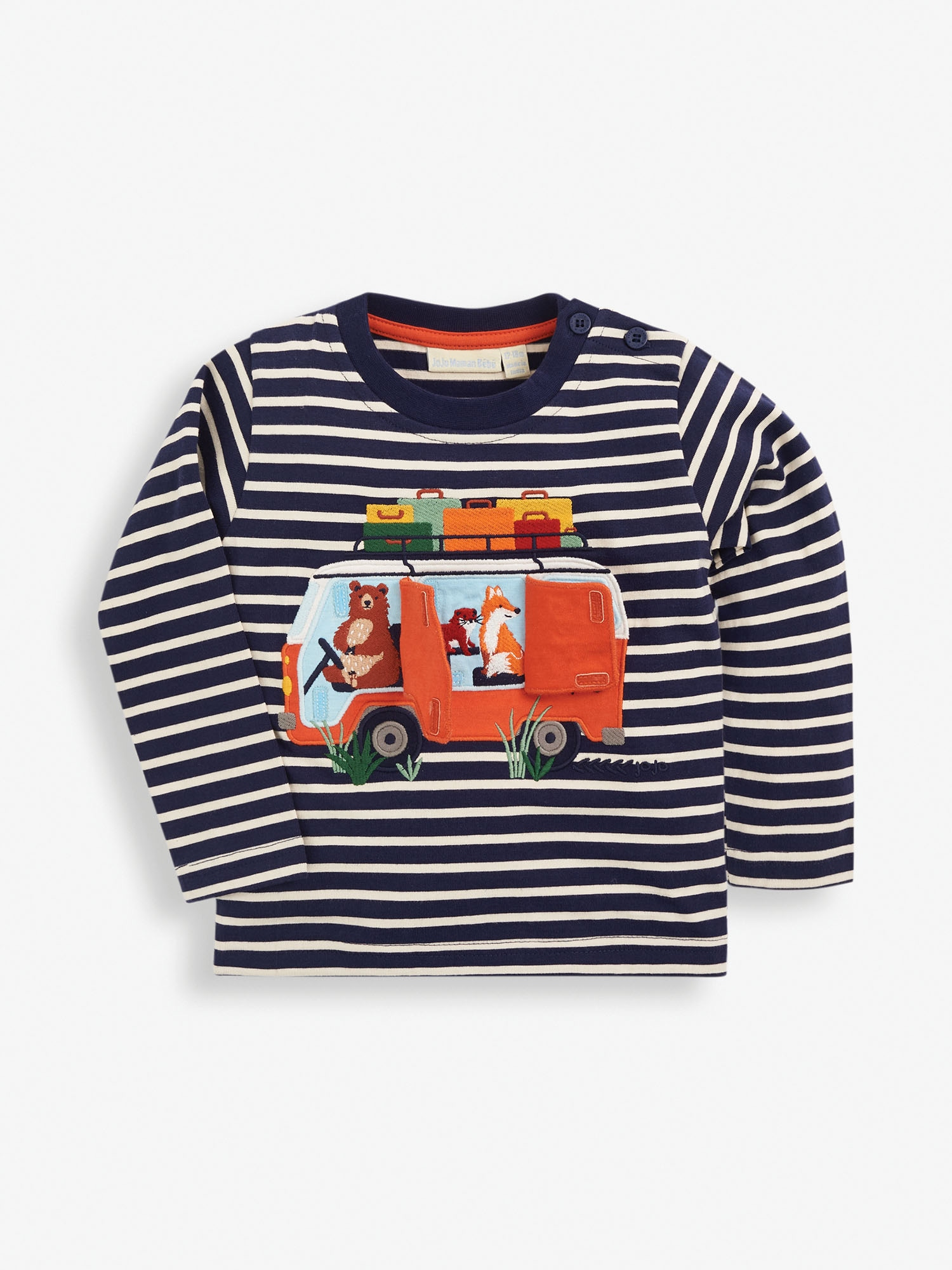 Kids' Striped Woodland Campers Top
