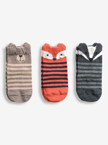 3-Pack Woodland Animal Socks