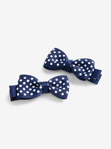 Pair of Kids' Dotty Bow Hair Clips