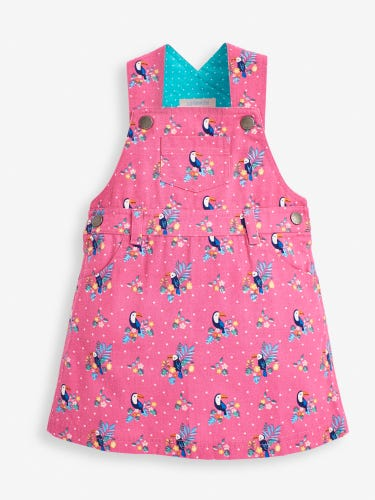 Girls' Orchid Toucan Dungaree Dress