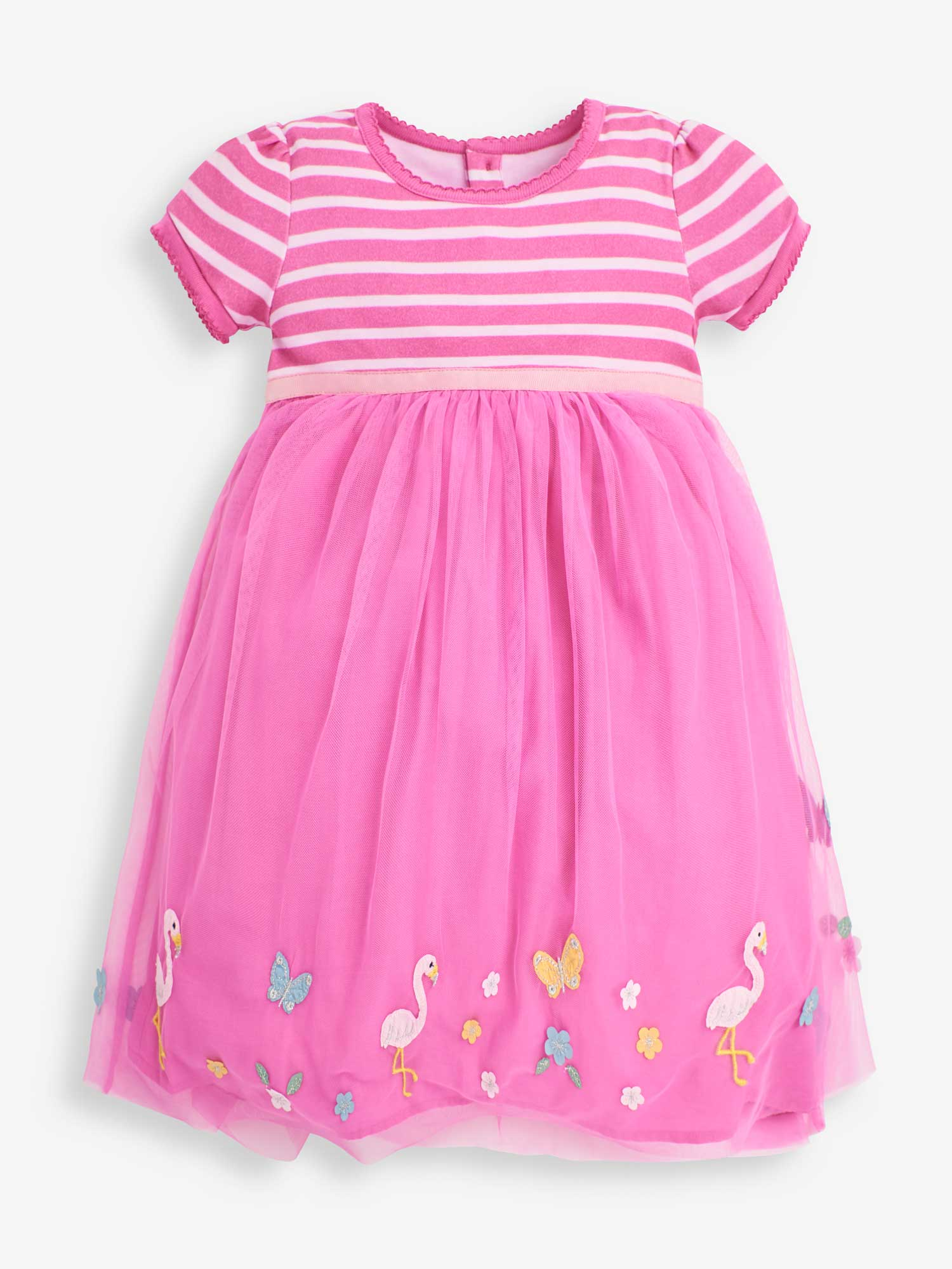 Girls' Orchid Flamingo Tulle Party Dress