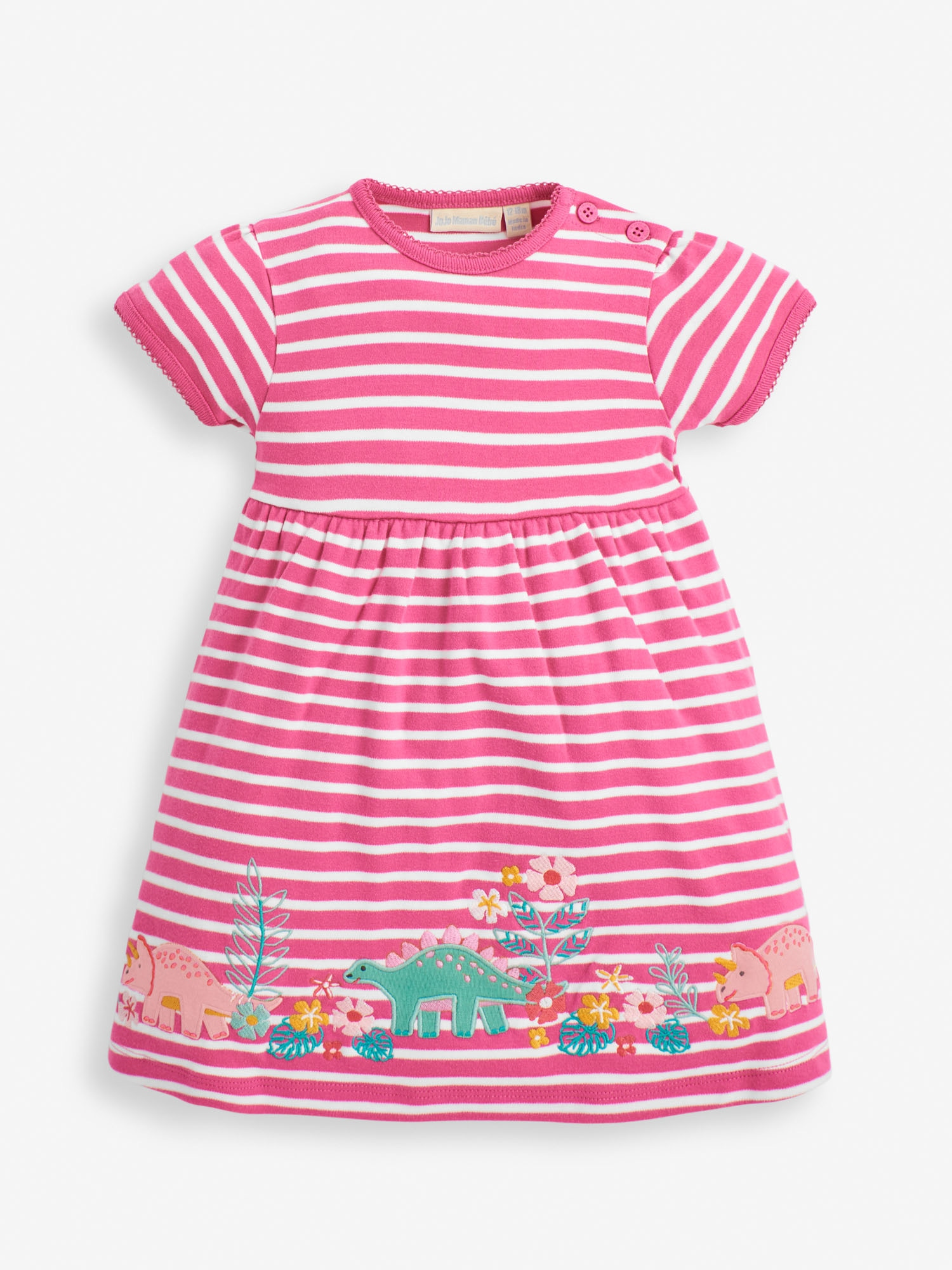 Girls' Orchid Dino Applique Dress