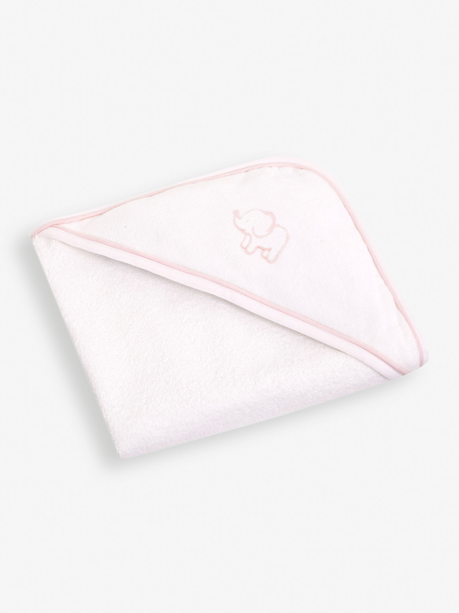 Elephant Embroidered Hooded Towel