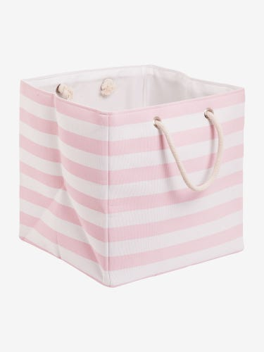 Striped Canvas Storage Cube