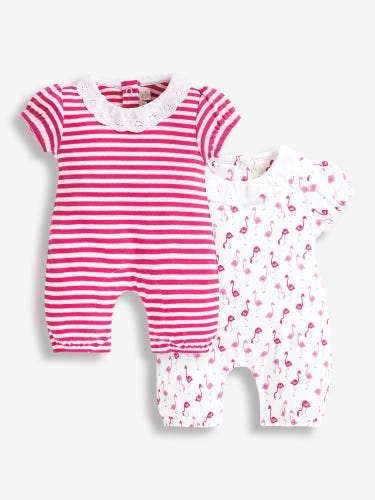 2-Pack Flamingo Print Baby Rompers