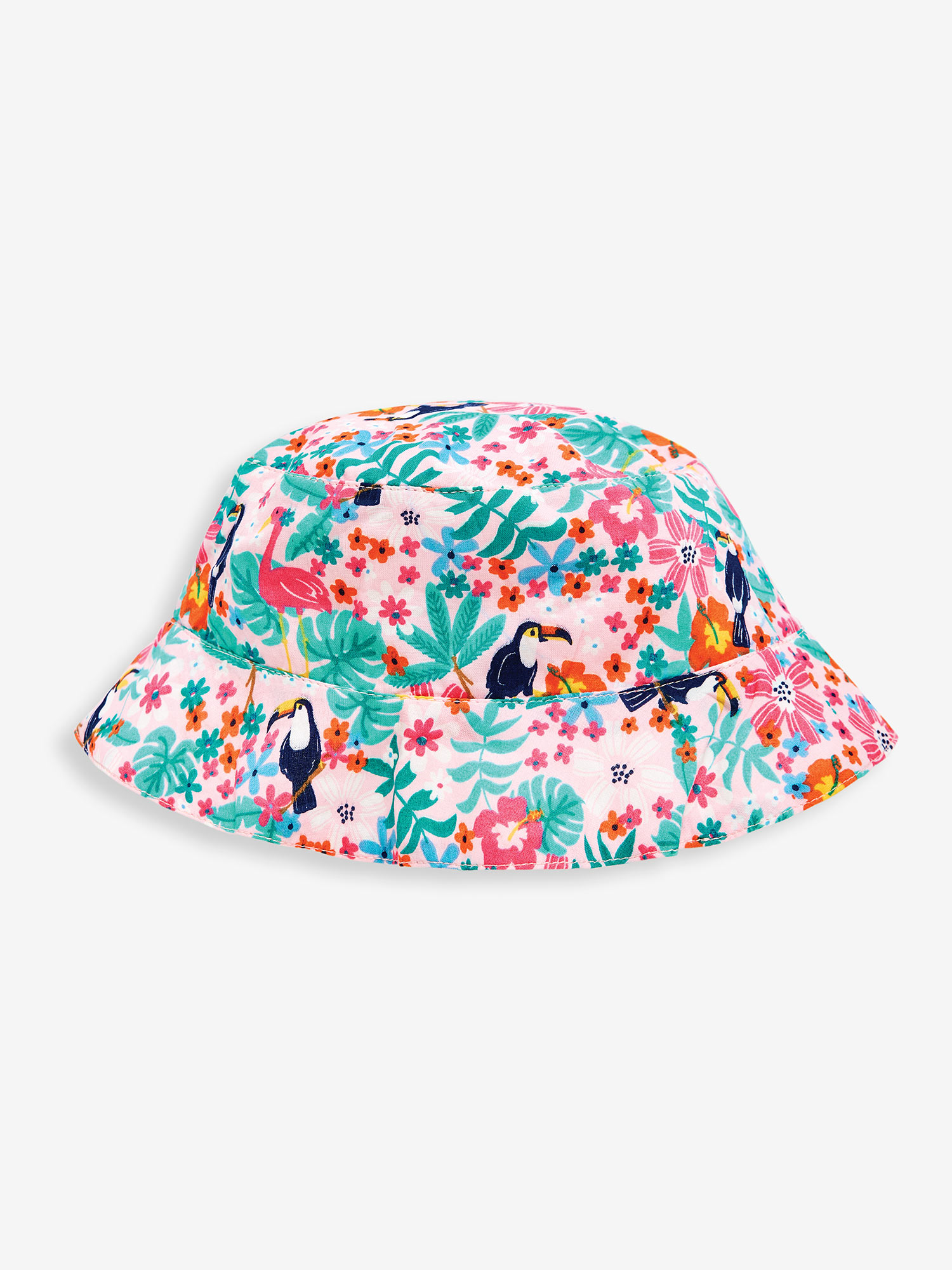 Girls' Pretty Pink Toucan Sun Hat