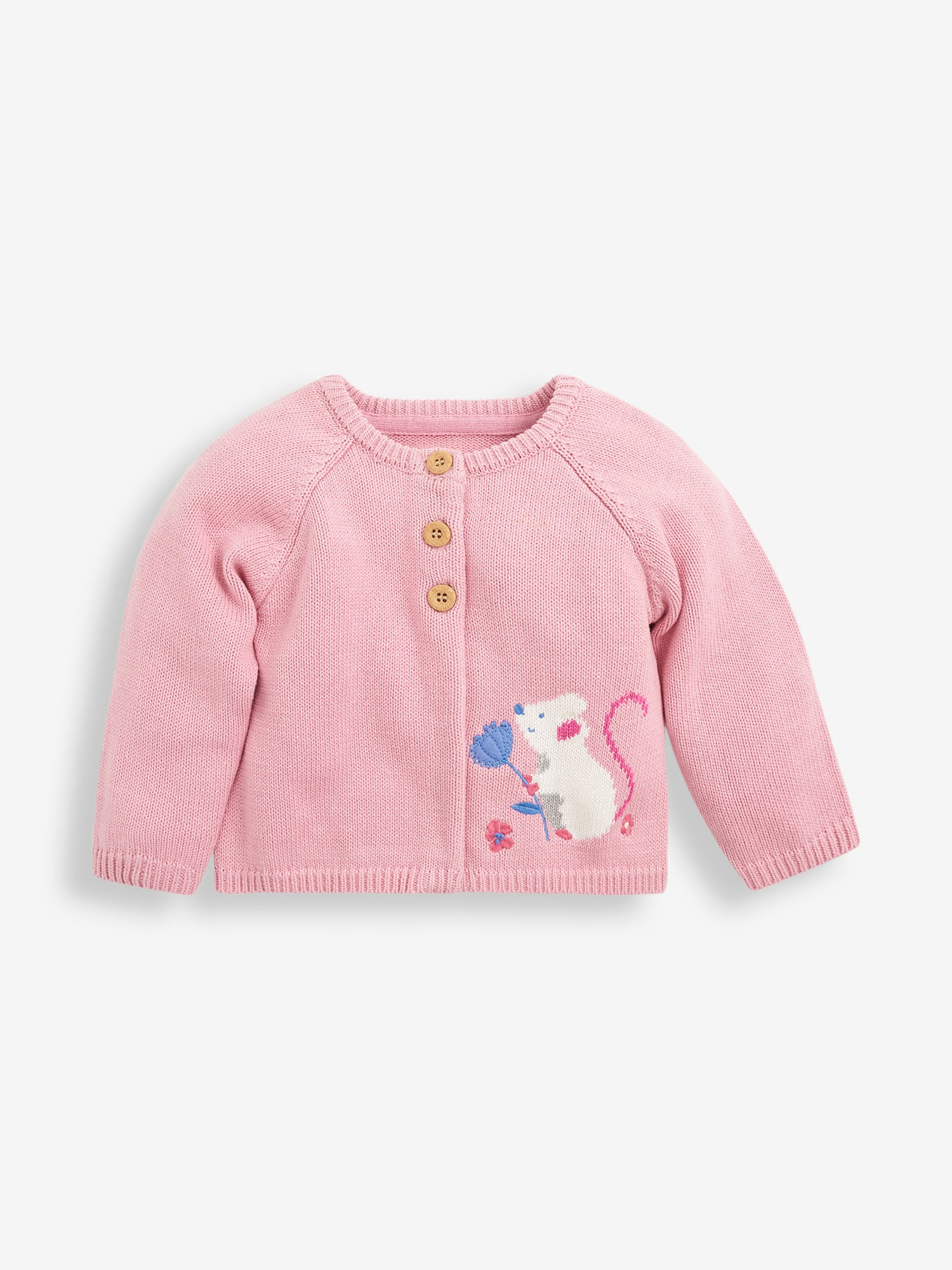 Girls' Pink Mouse Cardigan