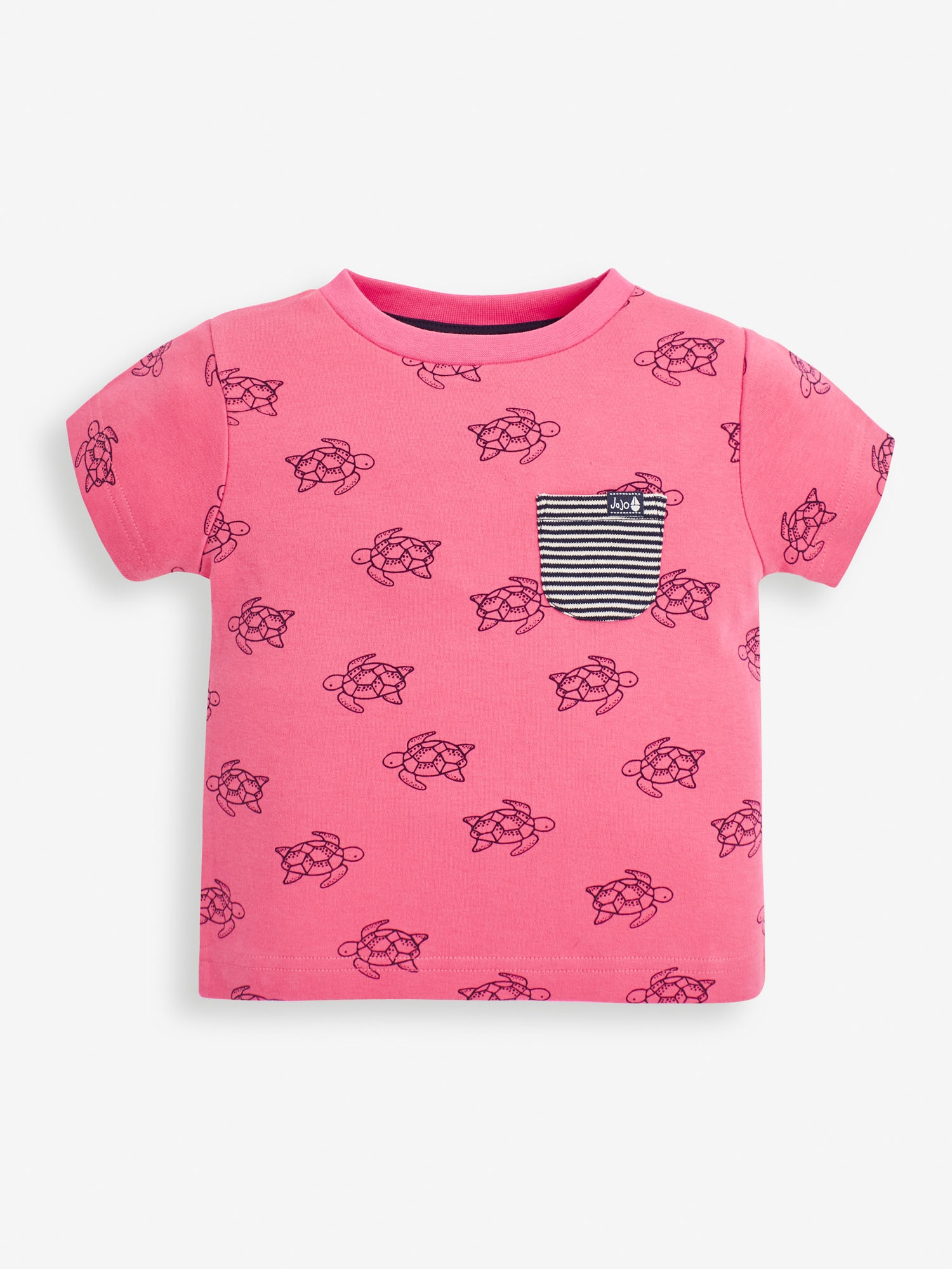 Kids' Pink Turtle Print T-Shirt