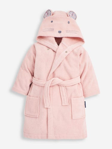 Pink Mouse Towelling Robe