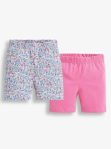 2-Pack Girls' Summer Ditsy Shorts