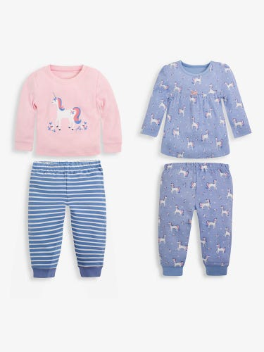 2-Pack Kids' Unicorn Jersey Pyjamas