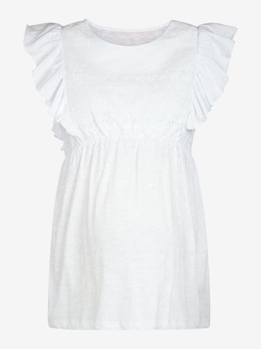 White Broderie Anglaise Maternity Top