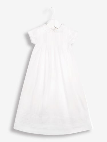 White Baby Christening Gown and Bonnet Set