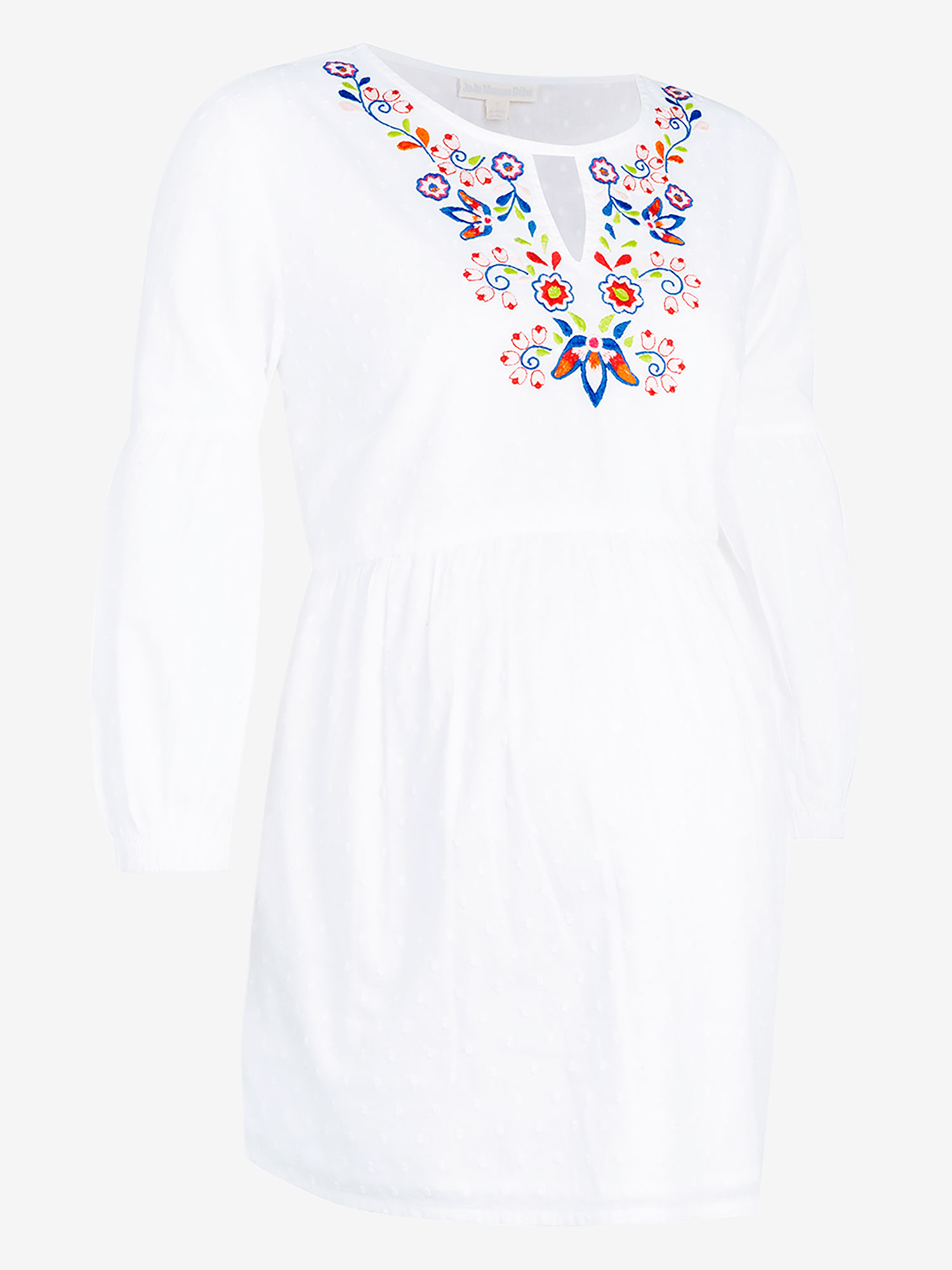 Embroidered Maternity Dobby Blouse