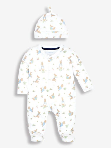 Peter Rabbit Baby Sleepsuit & Hat Set