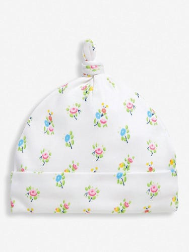 Pretty Floral Baby Hat