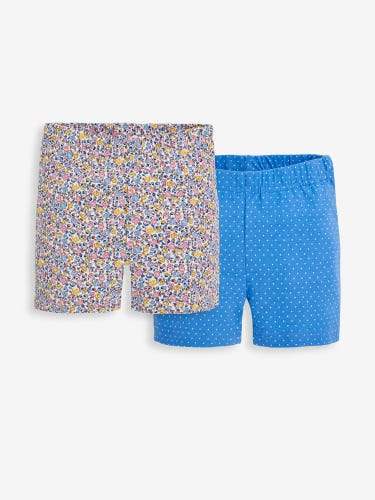 2-Pack Girls' Yellow Ditsy Floral Shorts