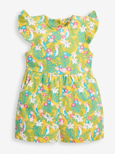 Girls' Yellow Cockatoo Playsuit